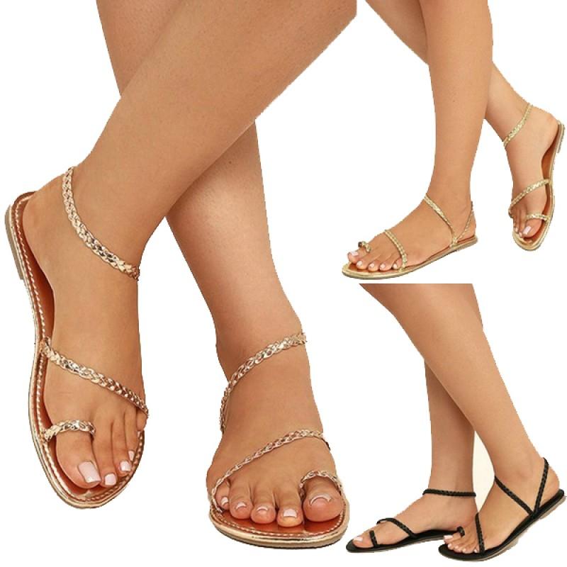 صندل/حذاء مسطح صيفي للنساء