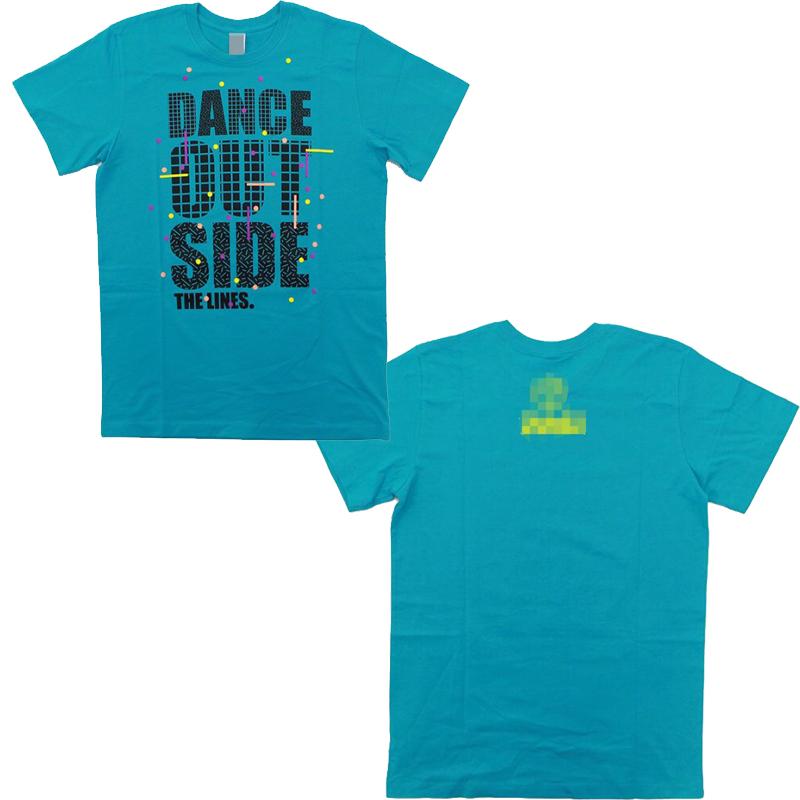 بلوزة رقص زرقاء للشباب والصبايا